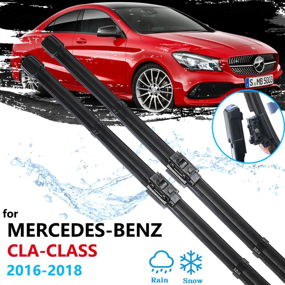 Lâminas de limpador do carro para mercedes benz cla c117 w117 2016 2017 2018 pára-brisas acessórios do carro cla180 cla200 cla220 cla250 cla45 amg