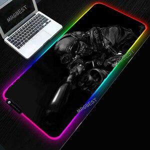 Almofadas de mouse rgb, grande tamanho, grande, gaming, confortável, colorido, brilho, esteiras de mouse, alta quantidade, durável, almofada de desktop para csgo gamer