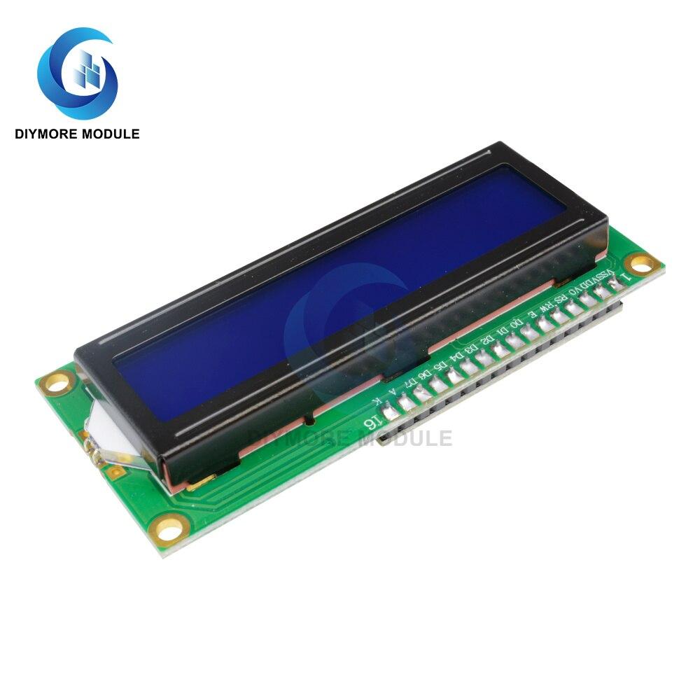 Модуль ЖК дисплея 1602, 16x2 символа, желтый/синий экран 5 В с последовательным интерфейсом IIC I2C для Arduino UNO R3