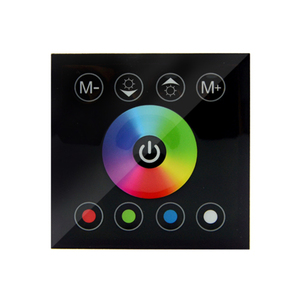 Image 3 - DC12V 4A*4CH Black Tempered Glass Panel Digital Touch Screen Dimmer Home Wall Light Switch For RGBW LED Strip Tape 4 Channel