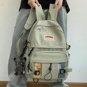 DCIMOR New Waterproof nylon Women Backpack Female High quality Schoolbag for Teenage girl Travel backpack large capacity Mochila 1