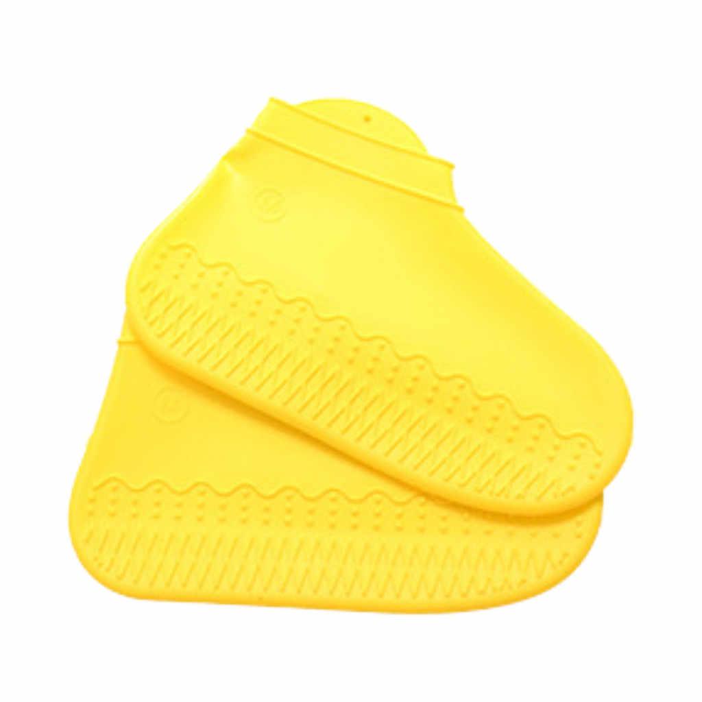 ซิลิโคนฝนกันฝนชุดโปร่งใสกันน้ำลื่นรองเท้าชุดบ้านผู้หญิงหนาหนารองเท้า Overshoes Boot 482