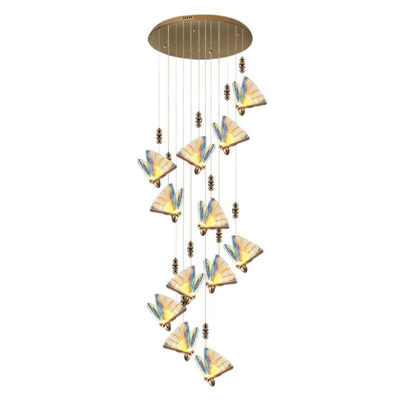 New Modern Nordic Led Stairs Chandelier Stairs Loft Modern Living Room Kitchen Wire Light Interior Lighting Home Decor Luster