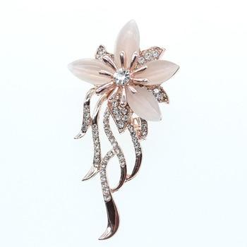 Free shipping new style Rhinestone Flower Brooch Pin Wedding Jewelry Brooches