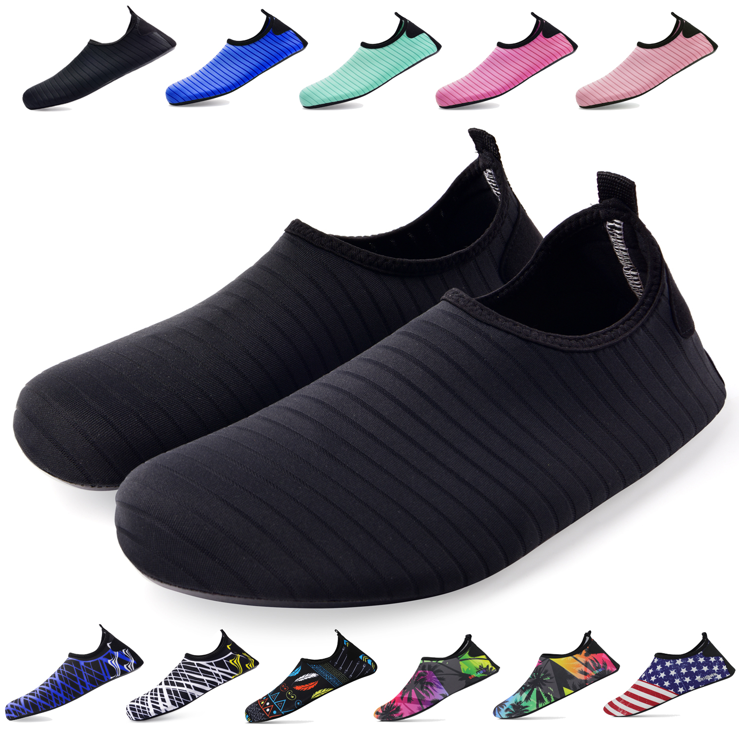 Unisex Breathable Soft Swimming Water Shoes Portable Beach Shoes