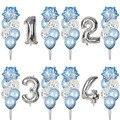 1 комплект, снежинки, конфетти для воздушного шара, латексные воздушные шары, декоративные морозные вечерние шары, детский душ, свадьба, день...