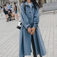 Elegant Loose Full Sleeve Single-breasted Belt Soft Warm Overcoat Middle And Long Woolen Coats With Pockets Front Open Cardigan pockets knit open front cardigan