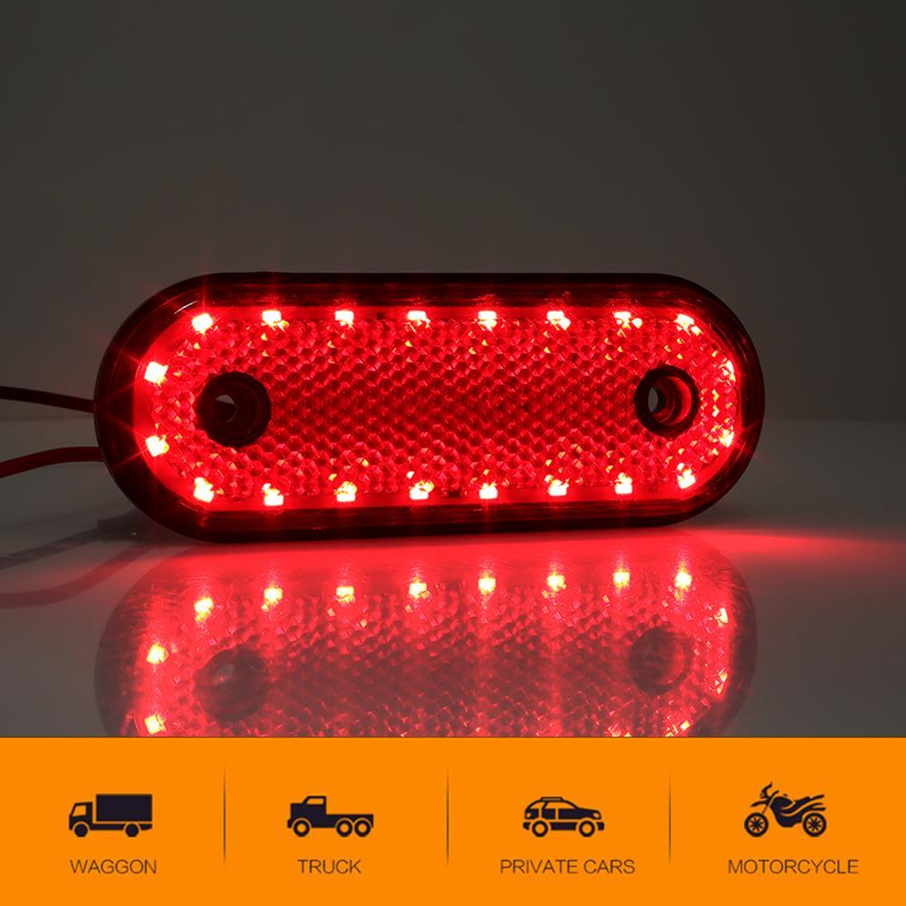 Car Turn Signal Trailer Taillight 20LED Mark Truck Waist Light Ship Lamp DC24V Red Bulb Pickup LED Marker Light