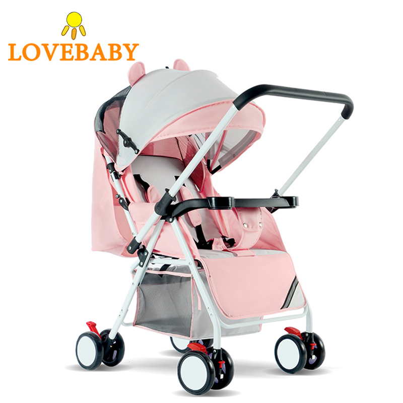 High Landscape Baby Stroller 3 In 1 Travle System Lightweight Folding Baby Carriage 360 Rotation 2 In 1 Luxury 0-3 Y Car Seat