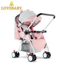 Yüksek peyzaj bebek arabası 3 In 1 seyahat sistemi hafif katlanır bebek arabası 360 rotasyon 2 In 1 lüks 0  3 Y araba koltuğu
