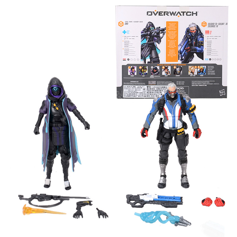 Hasbro Overwatch Ultimates Mercy and Pharah Shrike Ana and Soldier:76  Action Figures Suit Model Toys 6'' 3