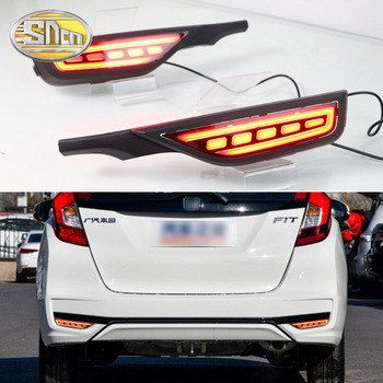 Led Rear bumper driving lights for Honda Fit Jazz 2017 2018 2019 Rear running light Braking lights turning signal light