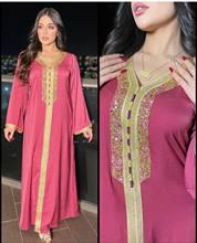 Abaya – Robe Longue en Satin pour femmes, Abaya, Dashiki africain, islamique, Longue, Hijab, pour Ramadan, Eid Moubarak, Djellaba