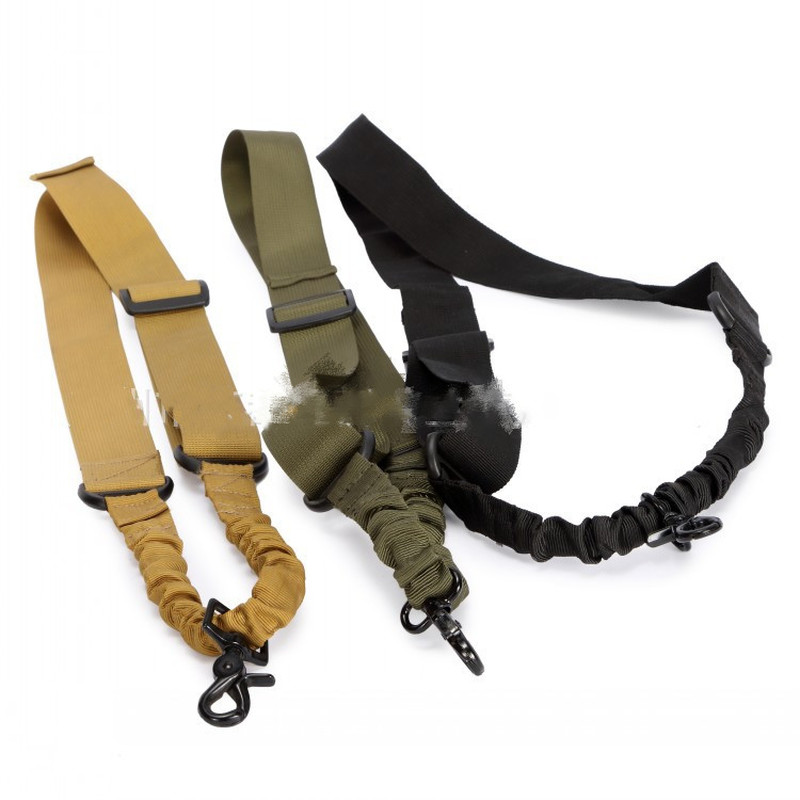 Nylon Adjustable Tactical Single Point Shoulder Strap Bungee Air Rifle Airsoft Gun Sling Hunting Strap Shooting Accessories
