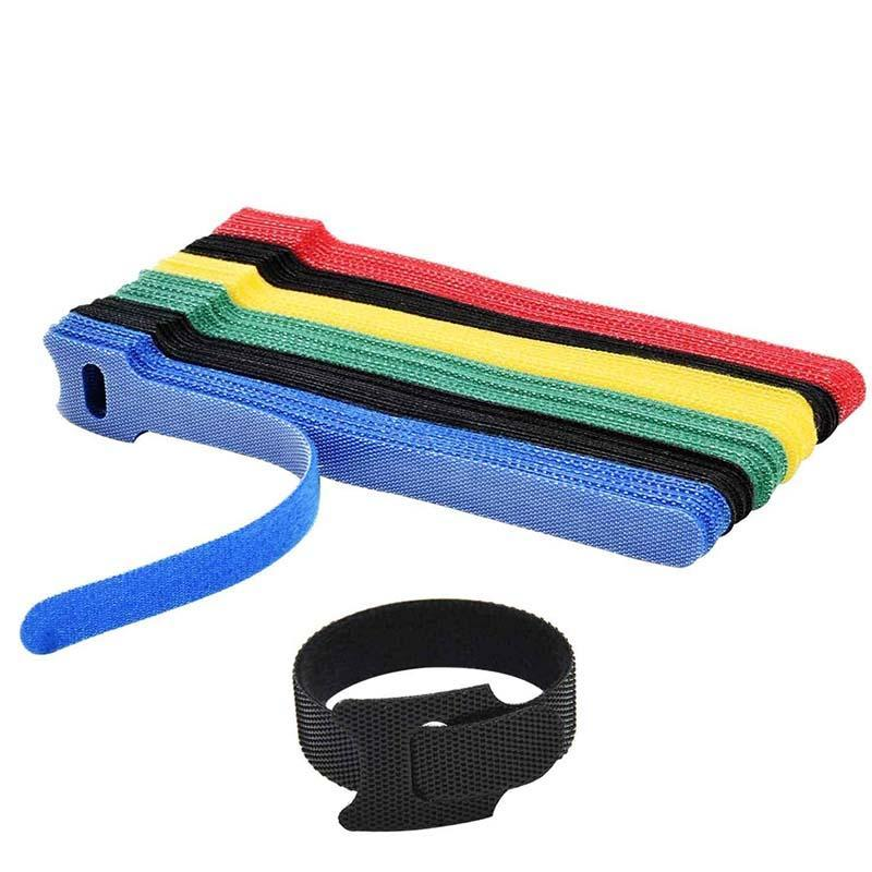 T-type Adhesive Fastener Tape Strong Harness Magic Tape Tie Reusable Hooks Loops Fasteners Back To Back Cable Storage Ties