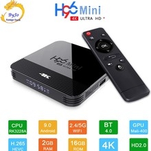 H96 Mini H8 Android 9.0 TV Box RK3228A 4K Smart TV
