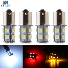 50pcs -100pcs 1156 BA15S P21W 13 SMD 5050 LED Brake Parking Rear Tail Turn Signal Light Bulb Lamps Auto Led Car Bulb 12V 13SMD цена и фото
