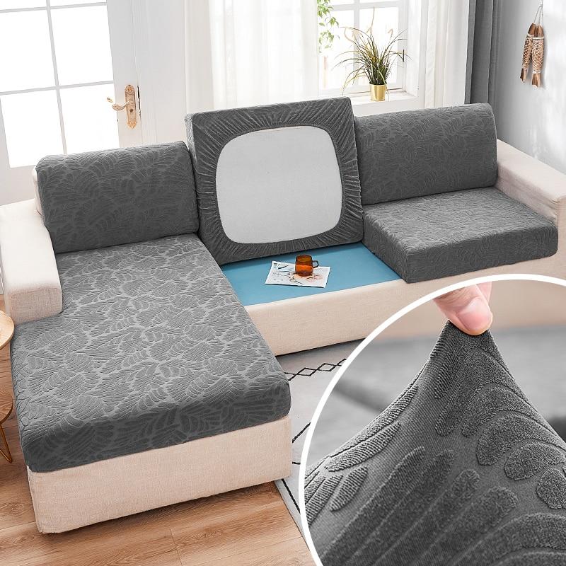 Fabirc sofá capa de almofada 1/2/3/4 seater grosso slipcover sofá sofá de canto cobre estiramento elástico capas de sofá