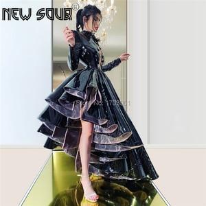 Image 2 - คำสีดำสูงต่ำอย่างเป็นทางการชุดพรหม Aibye Couture ดูไบ Vestidos CUSTOM พรรคประกวดชุดอิสลามชุดราตรี 2020