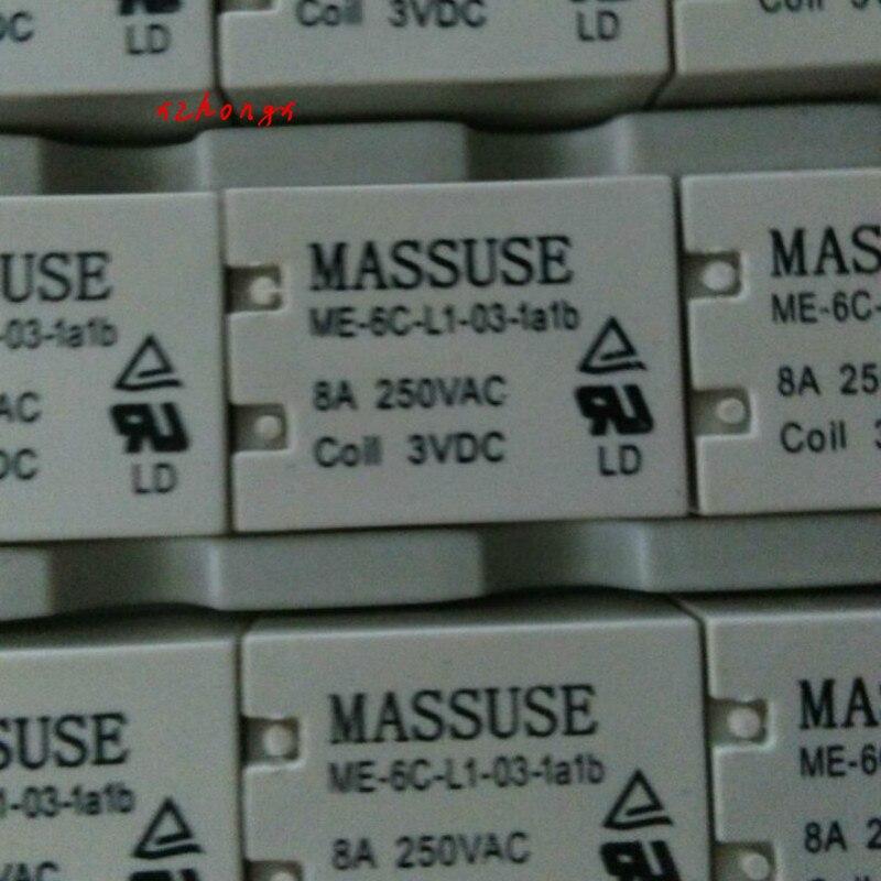 New Original Me-6c-l1-03-1a1b 8A 3VDC Six Pin Relay