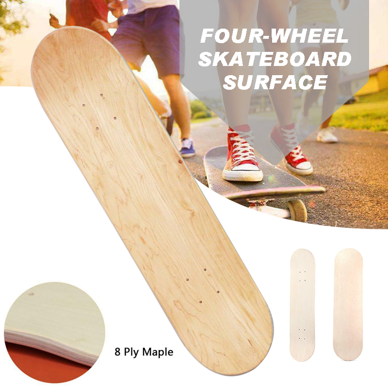79.5x20x1cm Skateboards Deck 8 Layers Maple Blank Skateboard Natural Roller Skate Board Deck U-shaped Longboard Decks