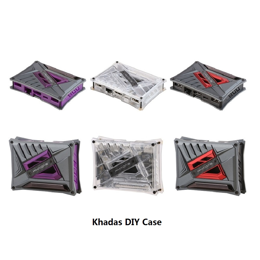 Khadas Case  For  Khadas VIM3/ VIM2/VIM1 Three Color DIY Case For Khadas