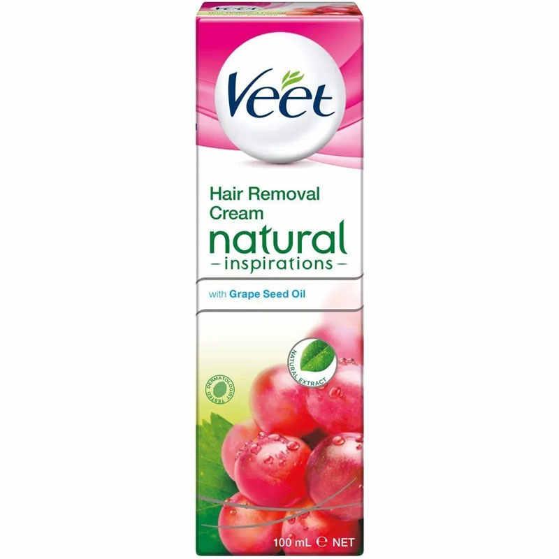 Veet Grape Seed Oil Hair Removal Cream 100ml Plate Plate Wall