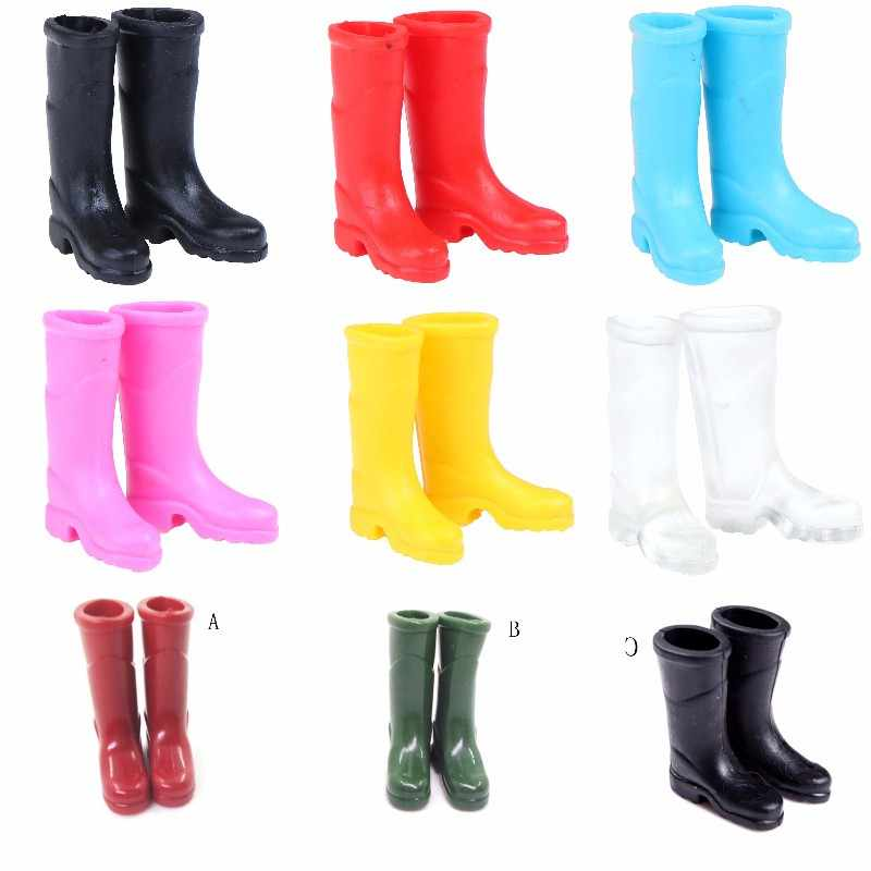 1Pairs Rubber Rain Boots Home Garden Yard Decoration 1/12 Scale Dollhouse Miniature