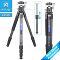 Carbon Fiber Tripod for Camera Professional Lightweight Compact Tripod for Travel Camera Stand with Low Gravity Center Ball head