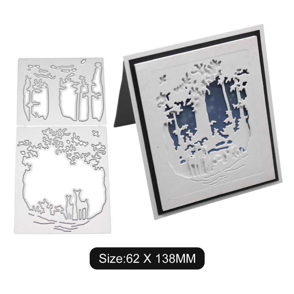 8X Frame Metal Cutting Dies DIY Scrapbooking Photo Album Embossing Stencil Craft