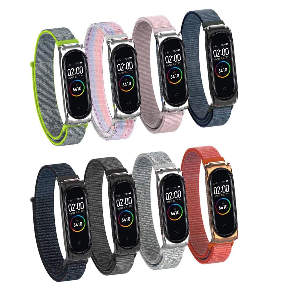 New Replacement Watch Band Nylon Wristband Watch Strap For Xiaomi Mi Band 3 Xiaomi Mi Band 4 Bracelet Watch Accessories