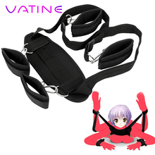 VATINE SM Bondage Set Flirting Sex Toys For Women Man Couple Slave Restraints Restraints Handcuff Neck Ankle Cuffs Adult Game