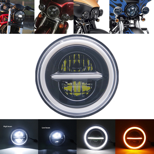 "Image 2 - Universal 7"" Led Car Motorcycle Headlight H4 Phare Farol Moto Headlamp Head Light For BMW Softail Cafe Racer Chopper Honda"