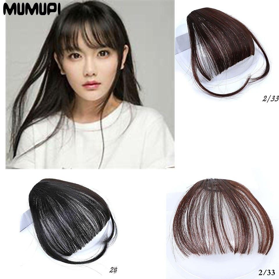 MUMUPI  2019 Sweet Girl Fashion Popular Invisible Natural Realistic Wig Air Bangs Synthetic Hair