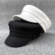 Adult Small Hat Cap Women Summer Cotton and Linen Navy