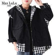 Max LuLu New 2020 Fashion Spring Korean Ladies Plaid Jackets Women Vintage Loose
