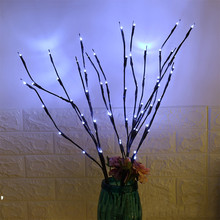 LED String Lights Tree Branch Lamp Floral Lights 20 Bulbs Home Decor Garden Romantic Wedding Party Holiday Bedroom Lighting Lamp cheap Dry Battery Wedding Holiday Christmas Decor Led String Light Decor Holiday Wedding Christmas Party Heart Shape Lamp Valentie s Day