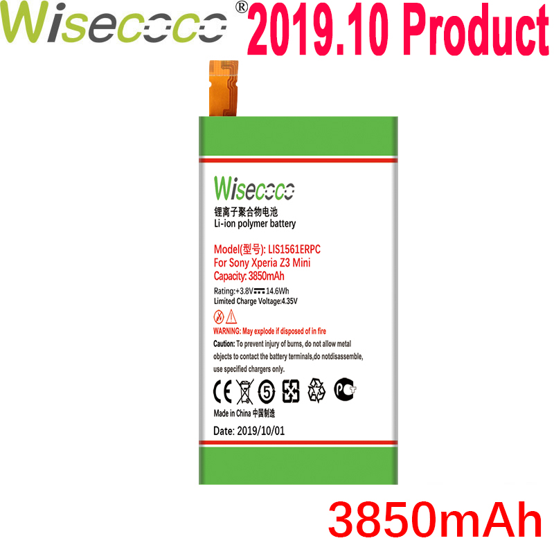 WISECOCO 3850mAh LIS1561ERPC Battery For <font><b>Sony</b></font> <font><b>Xperia</b></font> Z3 Compact Z3c mini D5803 D5833 For C4 E5303 <font><b>E5333</b></font> E5363 E5306 Phone image
