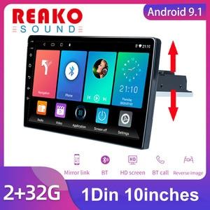1DIN Car Radio 10'' Android 9.1 Auto Radio 2GB RAM BT Car Multimedia Carplay for Volkswagen Nissan Kia Toyota Skoda Car Stereo