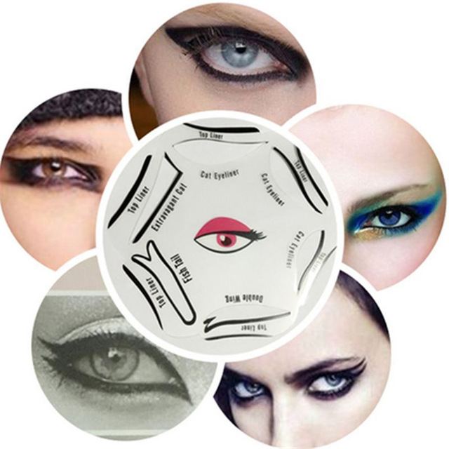 6 PCS/Set Cat Eye Line Models Smokey Eye Stencil Template Shaper Tool Cosmetic Easy Makeup Beauty Tools Accessories 2