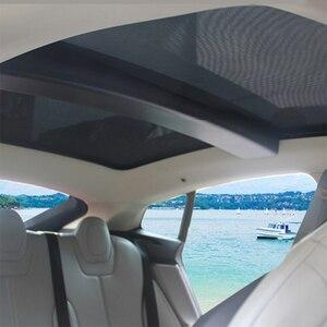 Image 3 - Für Tesla Model S Sonnenschirm Faltbare Mesh Schiebedach Sonnencreme UV Isolierung Schatten Geändert Auto Regenschirm Auto Dekoration Zubehör