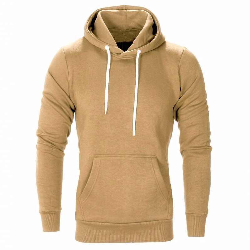 Jodimitty 2020 새로운 가을 겨울 패션 단색 후드 남성 대형 따뜻한 양털 코트 남성 브랜드 캐주얼 스웨터 후드 적합