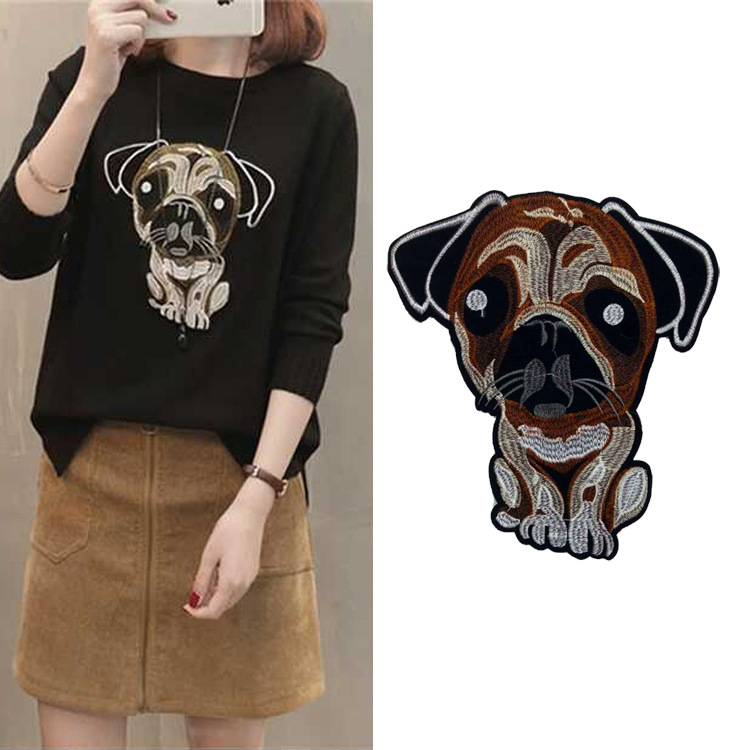 Clothing Accessories Embroidery Lace Color Cloth Animal Series Wang Wang Team Dog Stickers Trend