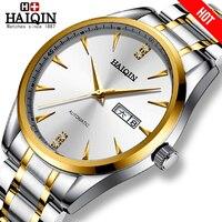 Haiqin 2019 relógio de ouro de luxo masculino relógios masculinos relógios masculinos relógio de pulso mecânico relogio masculino