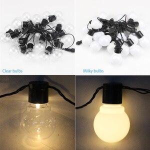 Image 4 - 11M 38 LED Stringกลางแจ้งไฟFairy Garland G50 หลอดไฟสวนPatioงานแต่งงานตกแต่งคริสต์มาสLight Chainกันน้ำ