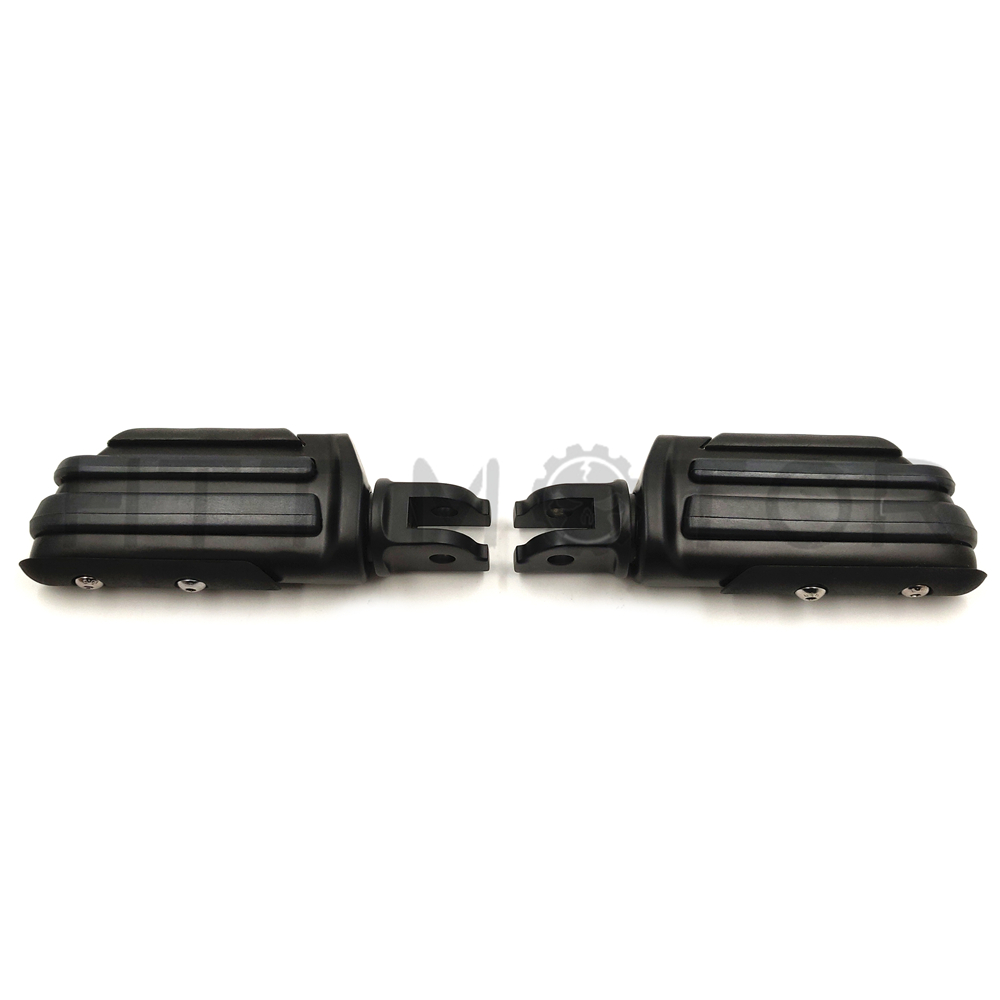 B00XIRWRSA SMT-1 1//4 Rubber Inlay Footpegs Compatible With Harley Bad Boy Fxstsb Fxs Dyna Fxdwg2 Fx Black Motorcycle