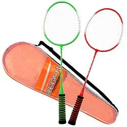 1 Pair of Badminton Racket High Elastic Sponge Grip Shot High-Grade Badminton Racquet with Bag Indoor Outdoor Sports Gym Home