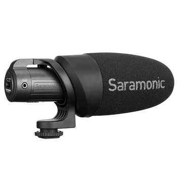 Saramonic Cammic+ Lightweight On-Camera Microphone with Integrated Shock Mount & Indicator for Dslr Canon Nikon Cameras