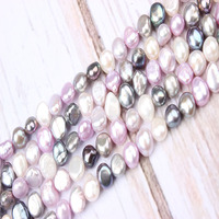 6X5MM Natural Freshwater Pearl High Quality 15.7 Punched Loose Beads Irregular Shape Jewelry Making DIY Women Necklace Bracelet