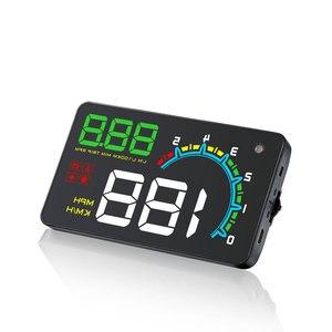 "Image 3 - HUD D3000 4 ""GPS 속도계 자동차 헤드 업 디스플레이 다기능 디지털 속도 고도계 보안 알람 HUD 헤드 업 디스플레이"